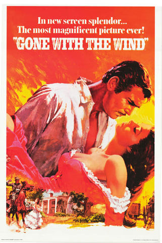 Gone With the Wind Clark Gable 24x36 Poster