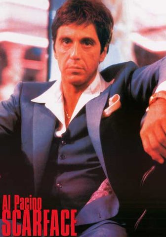 Scarface Bad Guy in a Blue Suit Al Pacino 24x34 Poster