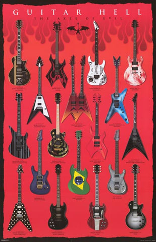Guitar Hell Famous Axes of Evil Poster