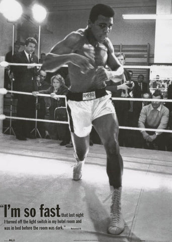 Muhammad Ali I'm So Fast Quote Poster