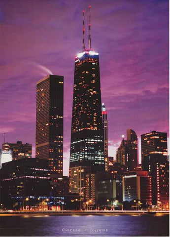 Chicago John Hancock Building Skyline Poster
