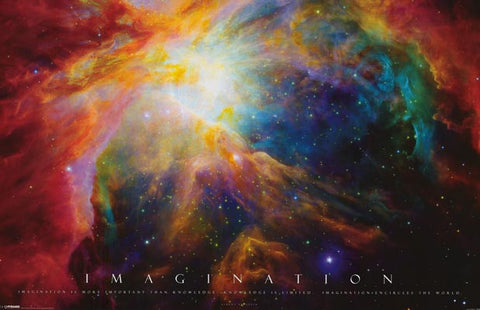 Imagination Inspiration Quote Nebula Space 24x36 Poster