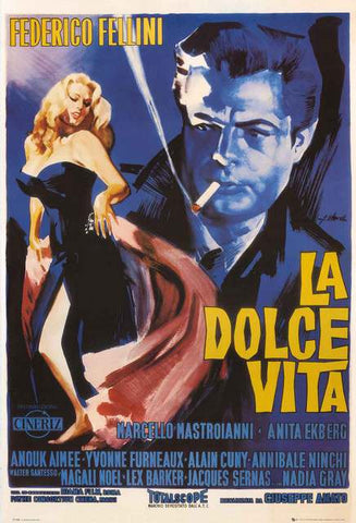 La Dolce Vita Fellini Movie Poster