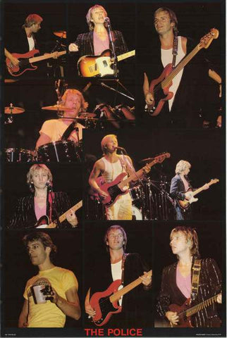 The Police Sting Live! Original 80's Poster 23x35