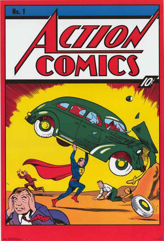Superman Action Comics #1 Poster
