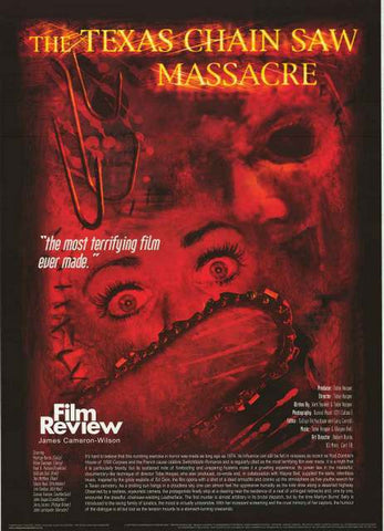 Texas Chainsaw Massacre Film Review Poster 24x34