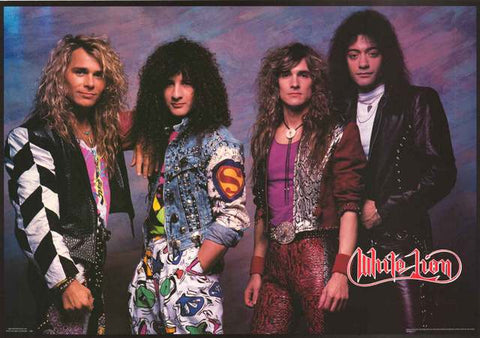 White Lion Band Poster