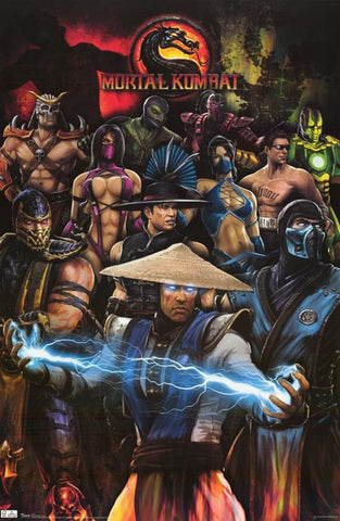 Mortal Kombat Video Game Poster