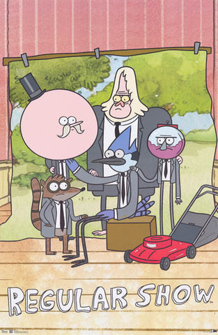 The Regular Show Cartoon Cast Poster