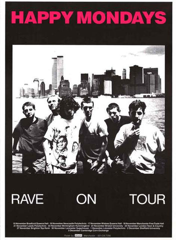 Happy Mondays Band Poster