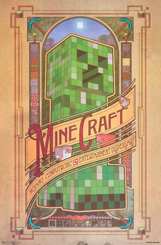 Minecraft Video Game Poster