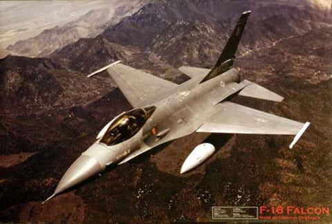 F-16 Falcon Fighter Plane Poster