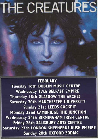 The Creatures UK Tour 2000 Poster 25x35