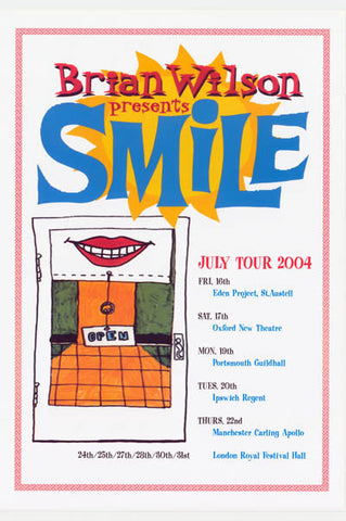 Beach Boys Brian Wilson Presents Smile! Poster