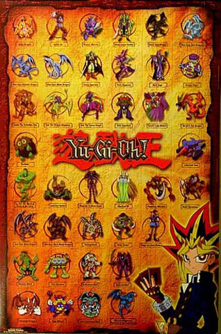 Yu-Gi-Oh Cast of Characters orig 1996 22x34 Poster