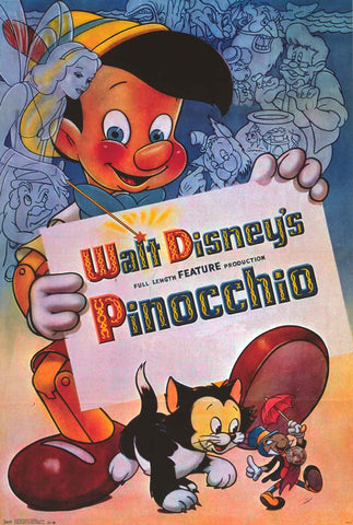 Pinocchio Disney Movie Poster