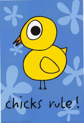 Chicks Rule Humor Poster