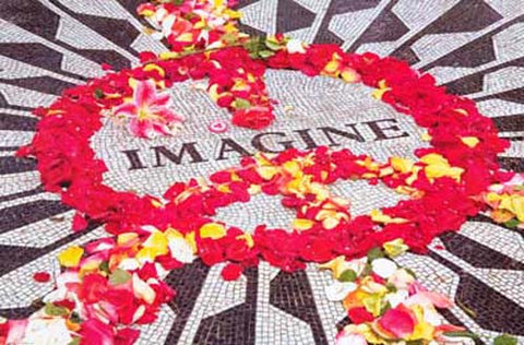 John Lennon Imagine Memorial Peace Sign Poster