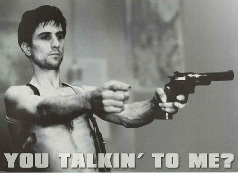 Taxi Driver You Talking to Me? De Niro XL Giant Poster 40x60