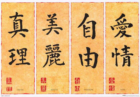 Chinese Calligraphy Inspiration Poster