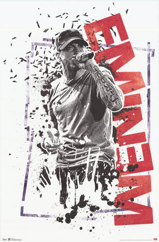 Eminem Splatter Smash Crumble Art 22x34 Poster