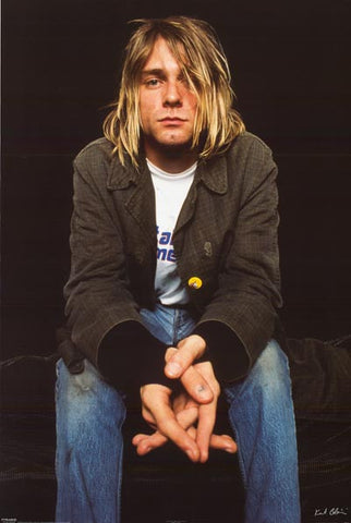 Kurt Cobain Seated Portrait Nirvana 24x36 Poster