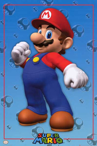 Super Mario Video Game Poster
