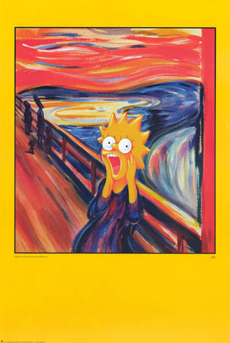 The Simpsons Scream Parody Poster