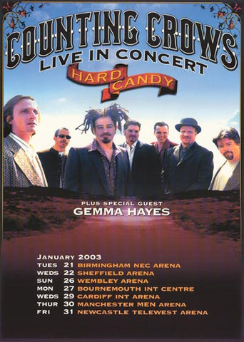 Counting Crows Hard Candy UK Tour '03 24x34 Poster