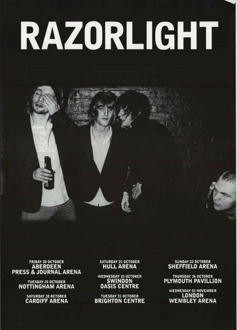 Razorlight 2007 UK Tour Poster 22x34