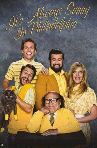 It's Always Sunny Funny Family Portrait 24x36 Poster