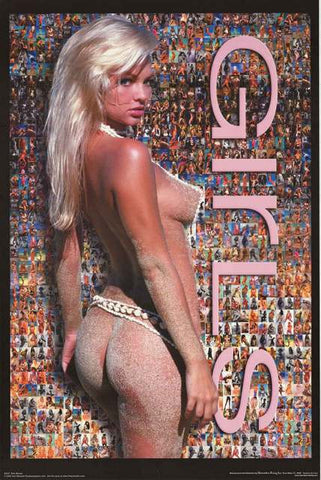Swimsuit Girls Photomosaic Poster 23x35