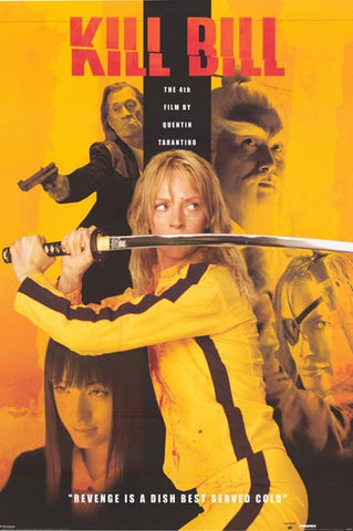 Kill Bill Revenge Is A Dish Cast Uma 24x36 Poster