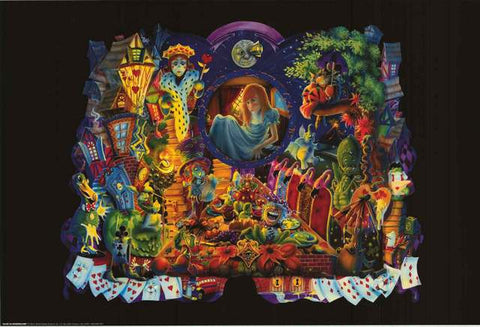 Richard Biffle Alice in Wonderland Poster