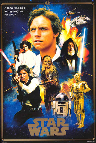 Star Wars 40th Anniversary Poster