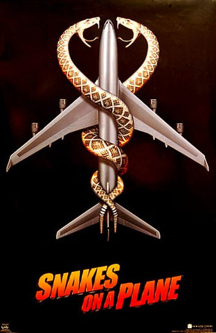 SNAKES ON A PLANE 24x36 POSTER