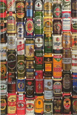 Import Beer Cans Poster