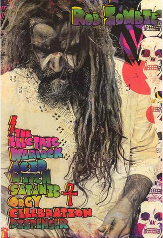 Rob Zombie Electric Warlock Poster