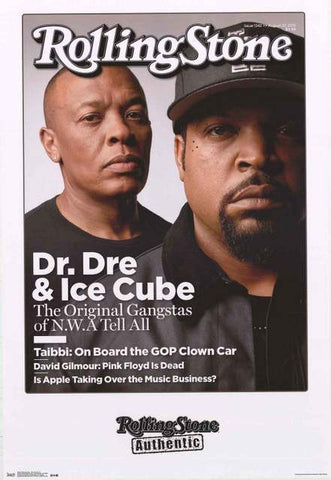 Dr Dre Rolling Stone Magazine Poster