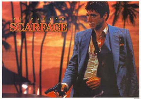 SCARFACE PACINO PALMS 24x36 POSTER