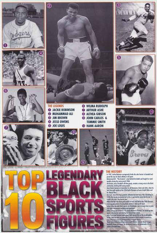 Black Sports Heroes Poster