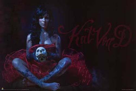Kat Von D LA Ink Lady MacBeth Tattoo 24x36 Poster