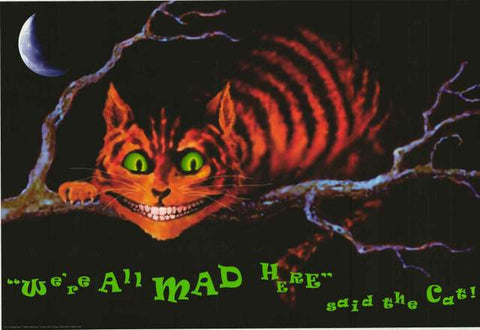 Alice in Wonderland Cheshire Cat Poster