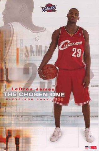 LeBron James Chosen One Poster