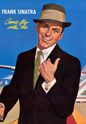 Frank Sinatra Come Fly with Me Rat Pack 24x34 Poster