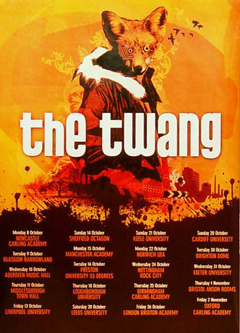 TWANG UK TOUR 2006 24x34 POSTER