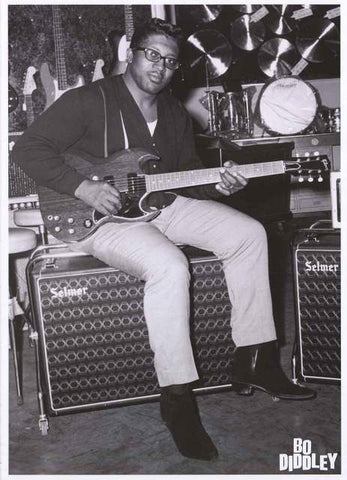 Bo Diddley Portrait Poster