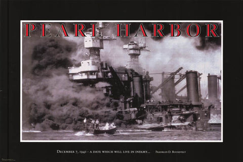 Pearl Harbor Attack History Poster