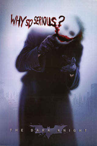Batman The Joker Why So Serious? Dark Knight Poster 24x36