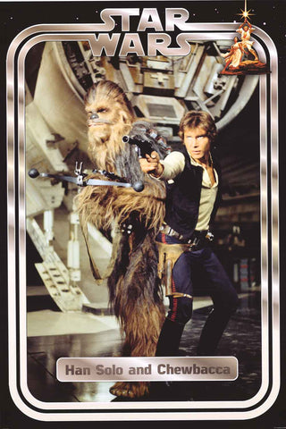 Star Wars Han Solo and Chewbacca Poster